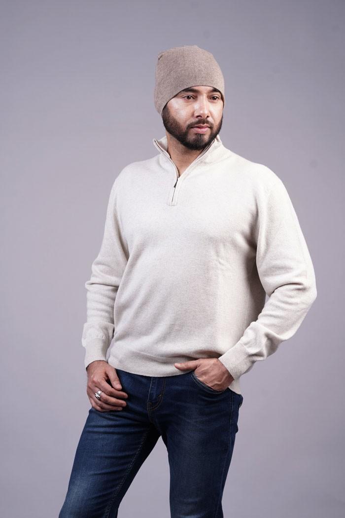 100% Pure Cashmere Men's Plain Cap