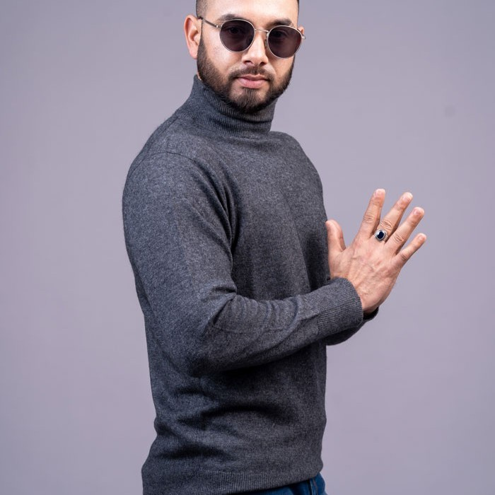 100% pure Cashmere Gents High Neck Pullover